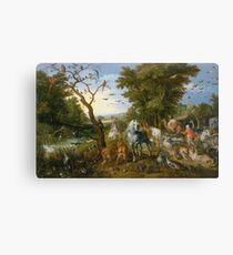 Jan Brueghel - The Entry Of The Animals Into Noahs Ark1613 Canvas Print