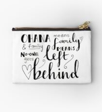 Ohana means family Studio Pouch