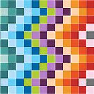 Colorful Squares Geometric by Kelly Dietrich