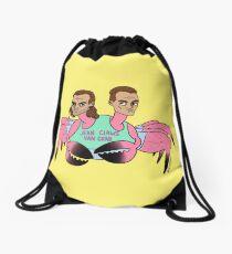 Jean Claws Van Crab Drawstring Bag