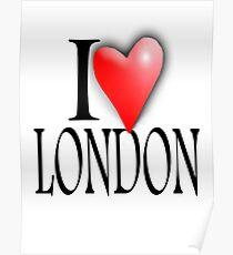 I LOVE, LONDON, England, UK, British, Blighty, English, Britain Poster