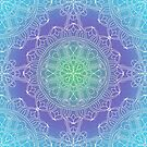 Blue and White Lace Mandala by Kelly Dietrich