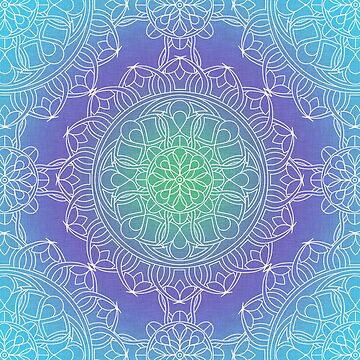 Blue and White Lace Mandala by kellydietrich