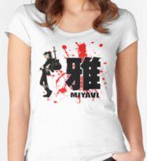 Miyavi Red Splash Women's Fitted Scoop T-Shirt