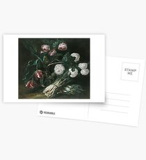 Jan Fyt - Vase Of Flowers And Two Bunches Of Asparagus Postcards