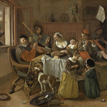 Jan Havicksz. Steen- The Merry Family, 1668 by artcenter
