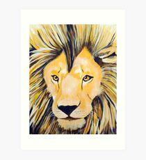 Lion - Acrylic Painting Art Print