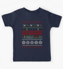 Supernatural Christmas Sweater Kids Tee