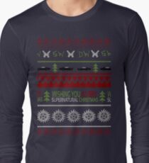 Supernatural Christmas Sweater Long Sleeve T-Shirt