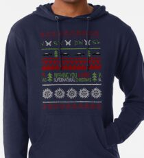 Übernatürlicher Weihnachts-Pullover Leichter Hoodie