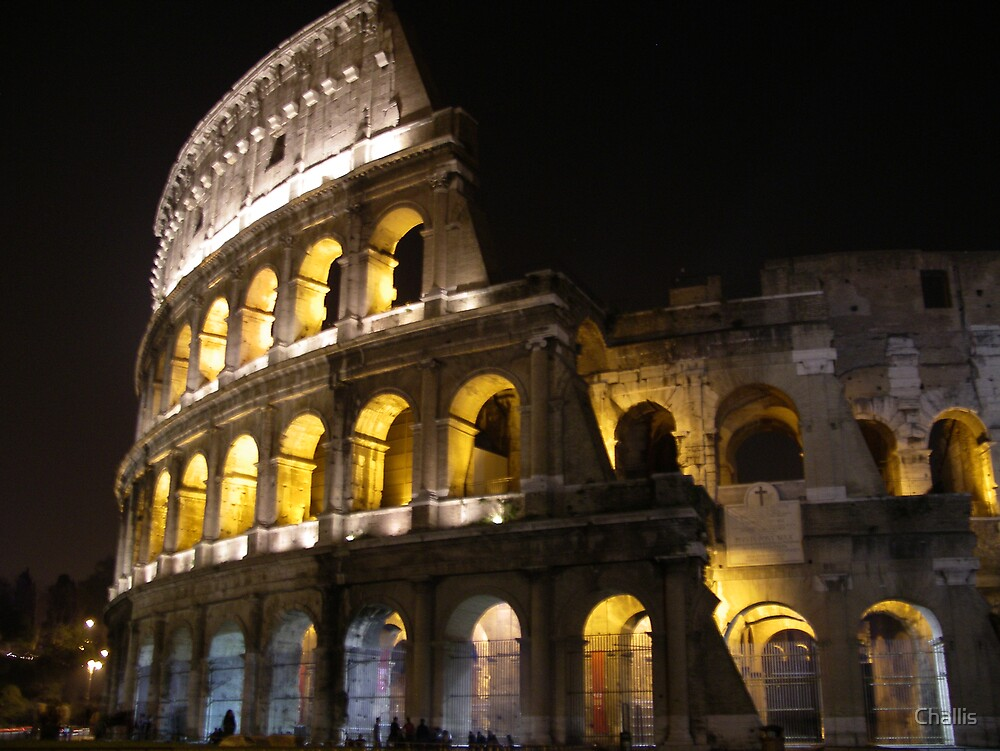Colosseum At Night by Challis