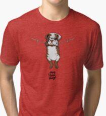 Hang in there baby English Bulldog Tri-blend T-Shirt