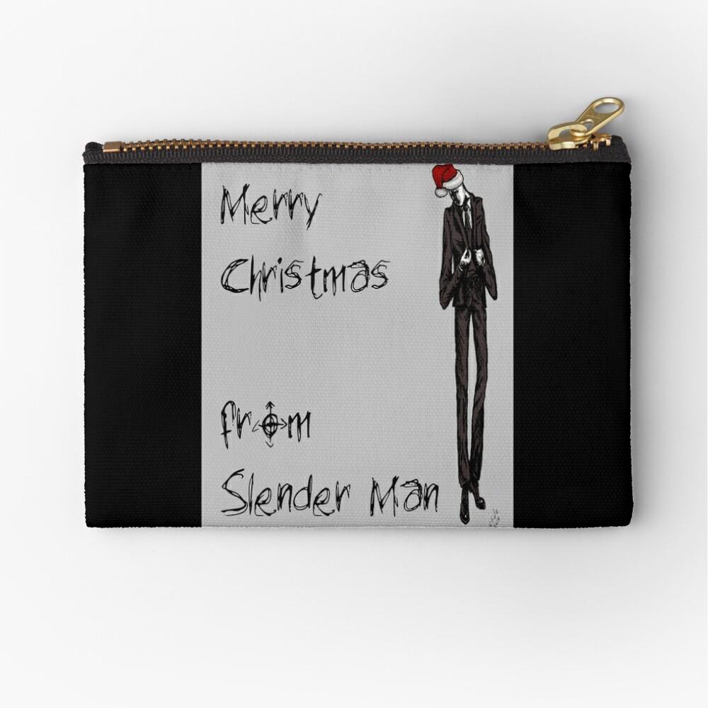 Slender Christmas Zipper Pouch