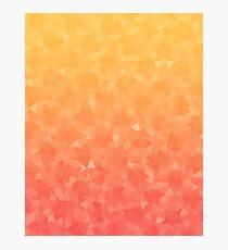 Ombre Orange Photographic Print