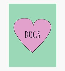 DOG LOVE Photographic Print