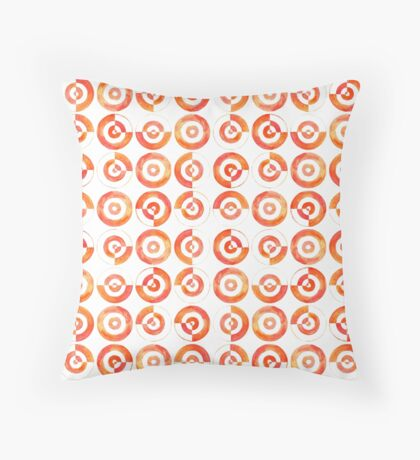 Watercolor Circles Throw Pillow