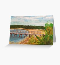 River View - Plein Air Acrylic Painting  Greeting Card
