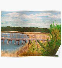 River View - Plein Air Acrylic Painting  Poster
