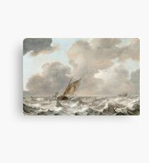 Jan Porcellis - Vessels In A Moderate Breeze.jpeg Canvas Print