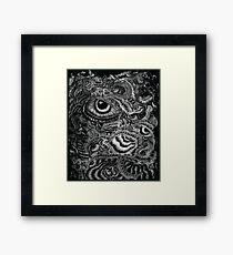 Biomeckanika - Monochrome Framed Print