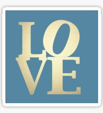 Love Blue and Gold Sticker