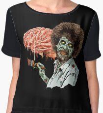 bob ross zombie Chiffon Top
