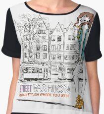 Street Fashion Chiffon Top