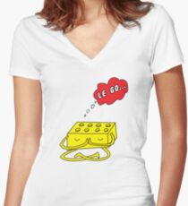 Let Go... of the mental block Women's Fitted V-Neck T-Shirt