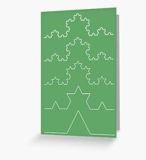 The Koch Curve Greeting Card