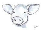 Happy Pig (Face) by Kendra Shedenhelm