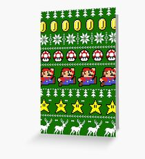 Super Mario 8-bit Ugly Christmas Greeting Card
