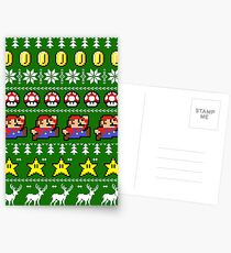 Super Mario 8-bit Ugly Christmas Postcards