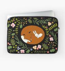 Freundschaft Fox-Rabbit_BgBlack Laptoptasche