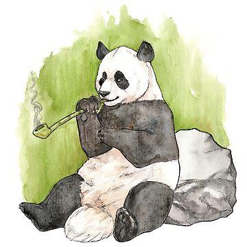 Smoking Panda by daftmue