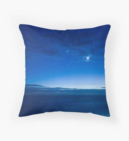 Pre-Dawn Blue Throw Pillow