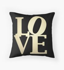 Love Park Philadelphia Sign Throw Pillow