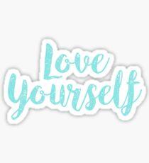 love yourself Sticker