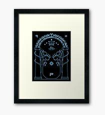 Speak Friend and Enter, The gates of moria Framed Print