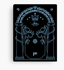 Speak Friend and Enter, The gates of moria Canvas Print