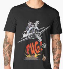 Cute Pilot Pug Dog   Men's Premium T-Shirt