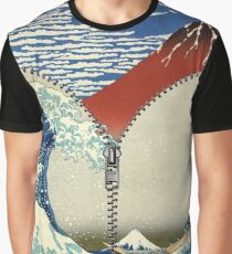 Mt. Fuji and the Wave Graphic T-Shirt