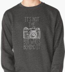 Camera white ink Pullover