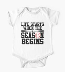 Life Starts When The Season Begins One Piece - Short Sleeve
