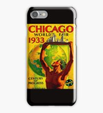 CHICAGO: Vintage 1933 Worlds Fair Advertising Print iPhone Case/Skin