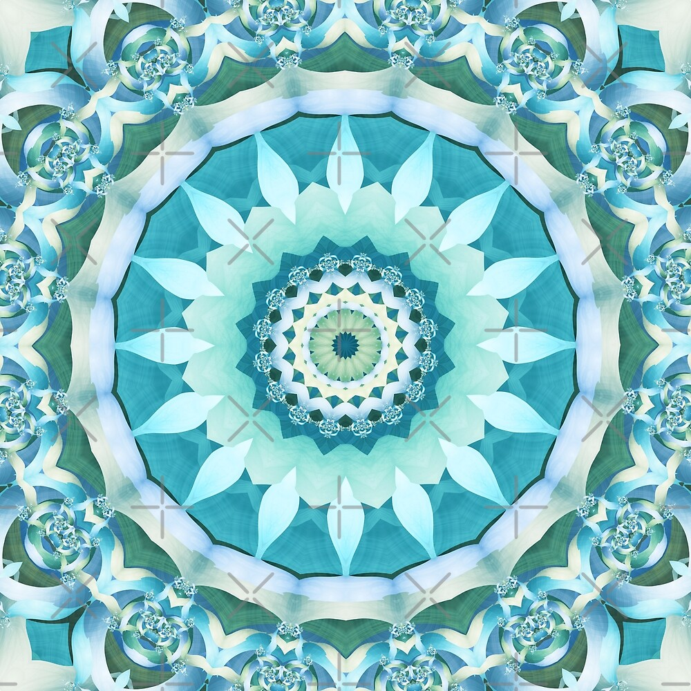 Aquamarine Mandala by Kelly Dietrich