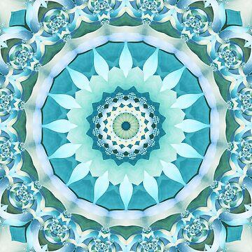 Aquamarine Mandala by kellydietrich