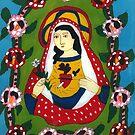 virgin mary sacred heart by lisamoro