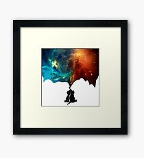 Painting The Universe - Baby Elephant Framed Print
