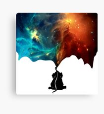 Painting The Universe - Baby Elephant Canvas Print