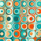 Turquoise and Orange Dots by Kelly Dietrich